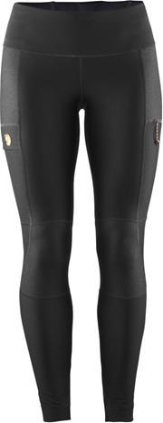 Fjällräven Abisko Trail Naiset Pitkät housut , musta