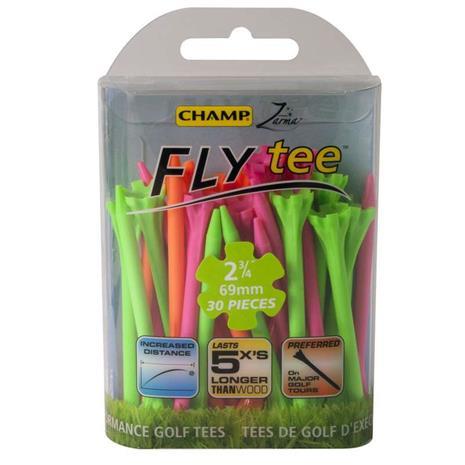 Champ Zarma FLYTee Golf Tees 2 3/4 (70 mm) Pink/Orange/Green-30 Pack