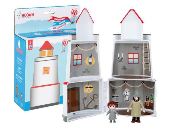Muumi, majakka ja 2 hahmoa