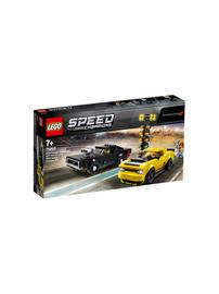 Lego Speed Champions 75893, 2018 Dodge Challenger SRT Demon ja 1970 Dodge Charger R/T