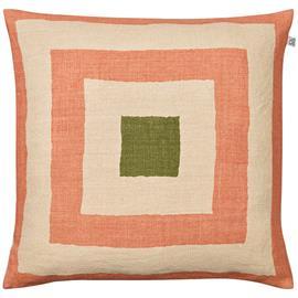 Chhatwal & Jonsson Shillong Cushion Cover, Rose/Light Beige/Cactus Green