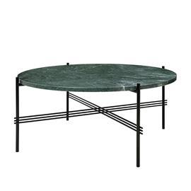 Gubi Ts Pöytä Large ä˜80cm H35cm, Vihreä Marmori