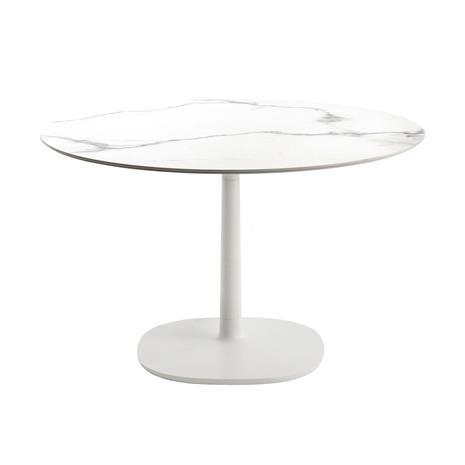 Kartell Multiplo Pöytä ä˜118cm, Valkoinen Marmori