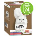 Gourmet Gold -säästöpakkaus purkkiruoat 24 x 85 g - Double Delicacies