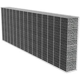 vidaXL Gabion-/kivikoriseinä suojakansilla 600x50x200 cm