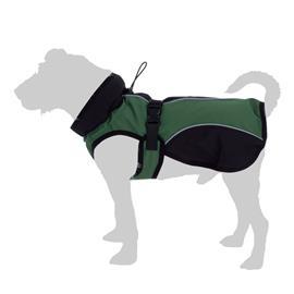 Softshell-koirantakki, vihreä - selän pituus noin 70 cm