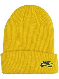 Nike Fisherman Beanie yellow ochre / obsidian