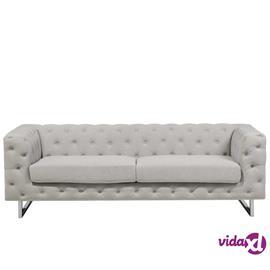 Beliani 3-istuttava sohva beige VISSLAND