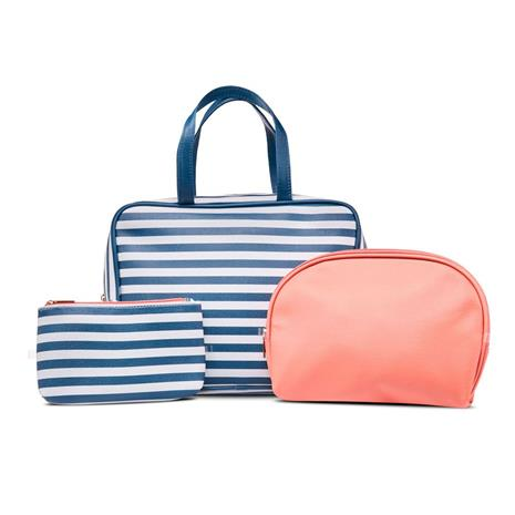 Studio - Striped Toiletry Bag Set - Blue