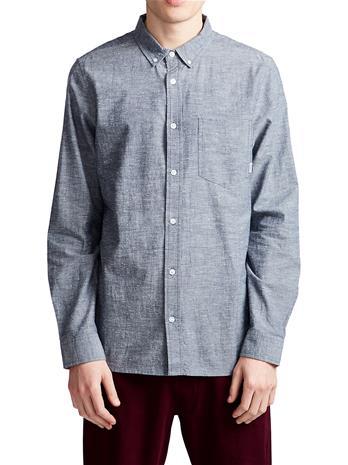 Element Greene Neps Shirt LS navy Miehet