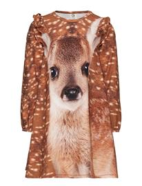 Mä¼sli by Green Cotton Spicy Deer Dress Kermanvärinen