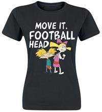 Hey Arnold! Move It Naisten T-paita musta