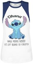 Lilo & Stitch Ohana Naisten toppi valkoinen-tummansininen