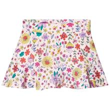 White Floral Illustrated Skort5-6 years