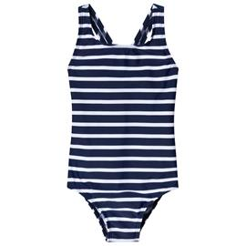 Navy and White Stripe Swimsuit4-5 years