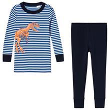 Navy Stripe Dinosaur Pyjamas10-11 years