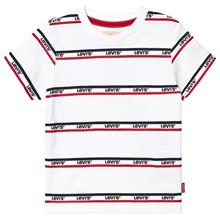 White Multi Logo Stripe Tee5 years