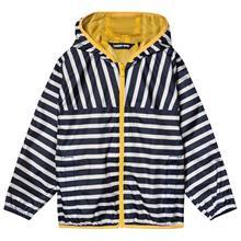 Navy Stripe Waterproof Hooded Rain Jacket12-13 years
