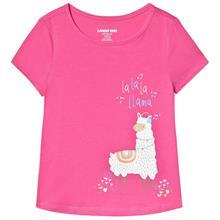 Pink La La Lama Print Tee12-13 years