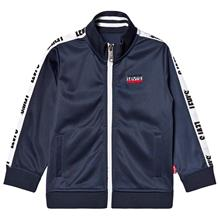 Navy Tricot Track Jacket with Logo Trim4 years