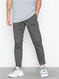 Topman Grey Relaxed Tapered Trousers Housut Grey