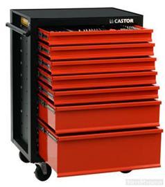 Työkaluvaunu XL työkaluilla Castor