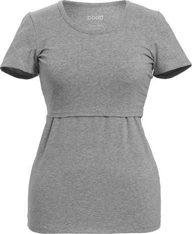 Boob Classic T-paita, Grey Melange XS