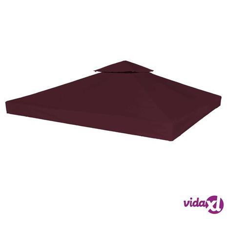 vidaXL Kaksikerroksinen huvimajan katto 310 g/m² 3x3 m viininpunainen