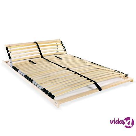 vidaXL Sängyn sälepohja 28 säleellä 7 vyöhykettä 140x200 cm FSC