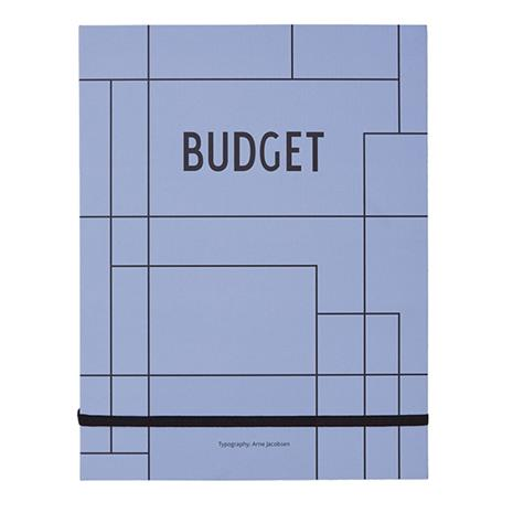 Design Letters Budget Book, tilikirja