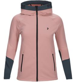 Peak Performance W RIDER ZIP HOOD WARM BLUSH