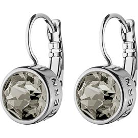 Dyrberg/Kern Louise Earrings, Shiny Silver/Light Grey