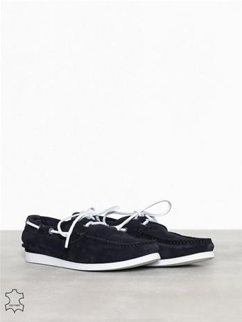 Selected Homme Slhsergio Boat Suede Shoe W Loaferit & tohvelit Tummansininen