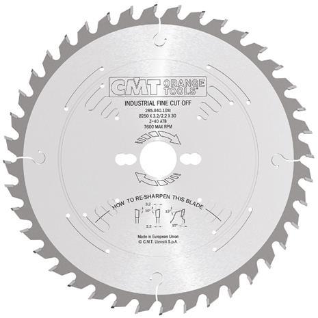 Katkaisuterä puulle CMT 285.060.16M; d=400 mm