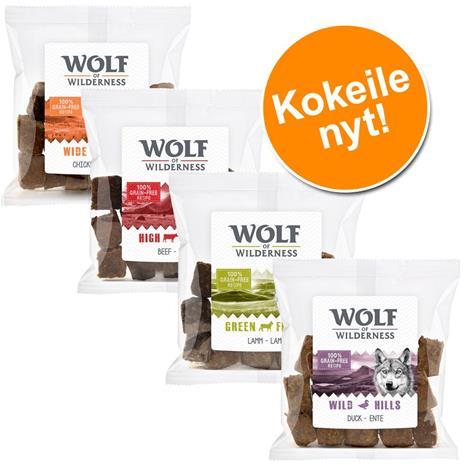 Wolf of Wilderness Wild Bites 720 g - mix 4 makua: kana, ankka, lammas ja nauta