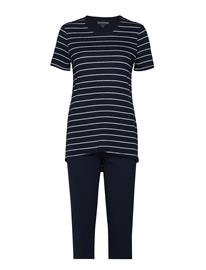 Schiesser Pyjamas 3/4 Sininen