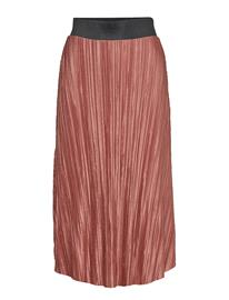 Gina Tricot Lydia Pleated Skirt Ruskea