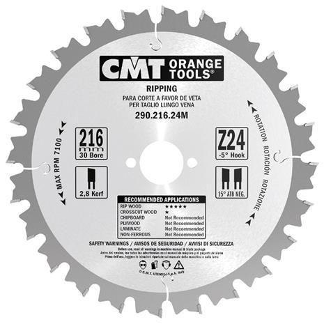 Katkaisuterä puulle CMT 290.160.12H; d=160 mm