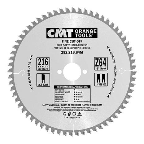 Katkaisuterä puulle CMT 292.165.40H; d=165 mm
