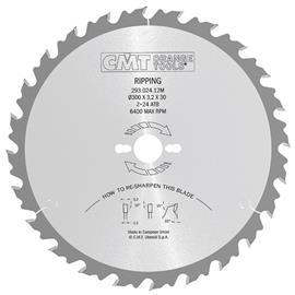 Katkaisuterä puulle CMT 293.024.12M; d=300 mm