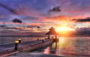 Fototapet Maldives Sunset