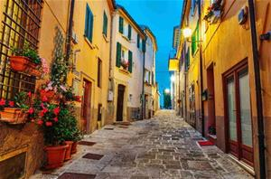 Fototapet Old Town in Italy
