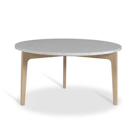 Mavis Höllviken Sohvapöytä, 80cm, Tammi/Marmori