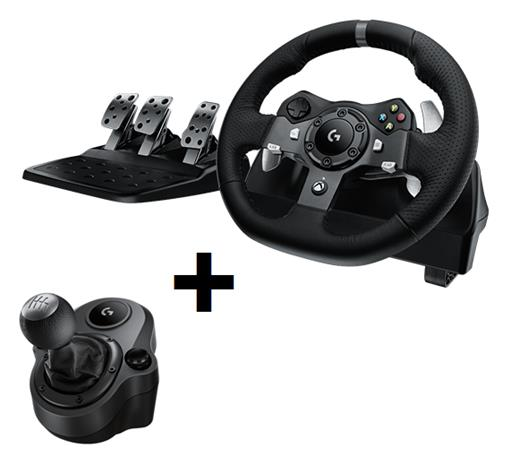 Logitech G920 Driving Force + Driving Force Shifter Bundle, Xbox One -rattiohjain
