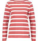 Race Marine W SEA LS BOATNECK WHITE/RED/WIDE STR
