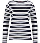 Race Marine W SEA LS BOATNECK WHITE/NAVY/WIDE ST