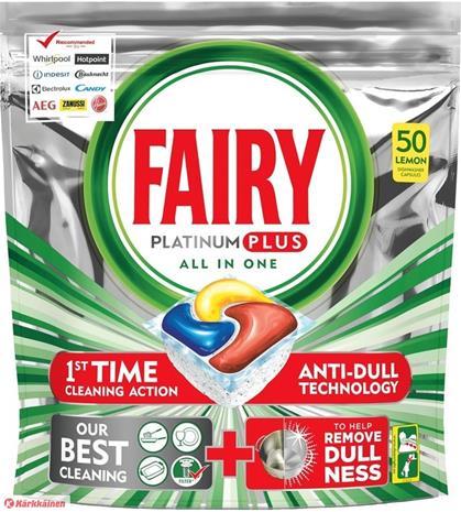 Fairy Platinum Plus 50 kpl konetiskitabletti