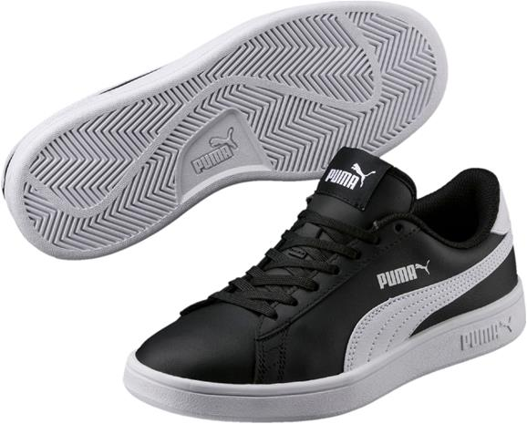 Puma Smash V2 L JR Kengät, Black/White 38