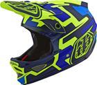 Troy Lee Designs D3 Fiberlite Pyöräilykypärä , keltainen/sininen