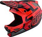 Troy Lee Designs D3 Fiberlite Pyöräilykypärä , punainen/musta